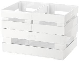 Набор из 3 ящиков Tidy&Store 23X16X8 / 16X11X7 / 16X11X7 CM CM белый
