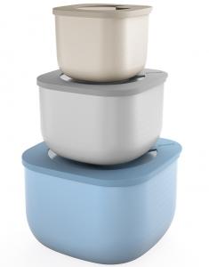 Набор из 3 контейнеров для хранения Store&More 750 ml / 1.55 L / 2.8 L