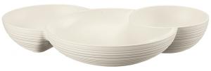 Менажница Tierra 30X21X5 CM молочно-белая