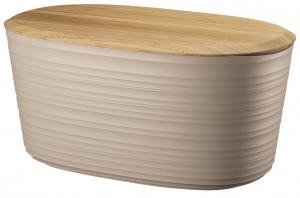 Хлебница с бамбуковой крышкой Tierra 10 L бежево-розовая