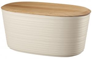 Хлебница с бамбуковой крышкой Tierra 10 L бежевая