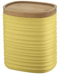 Емкость для хранения с бамбуковой крышкой Tierra 1 L желтая