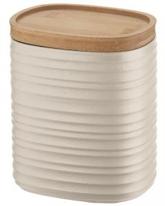 Емкость для хранения с бамбуковой крышкой Tierra 1 L бежевая