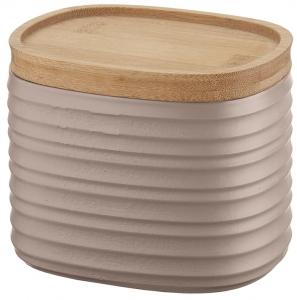 Емкость для хранения с бамбуковой крышкой Tierra 500 ml бежево-розовая