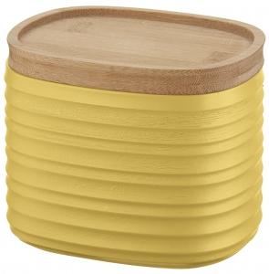 Емкость для хранения с бамбуковой крышкой Tierra 500 ml желтая