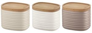Набор из 3 ёмкостей для хранения с бамбуковыми крышками Tierra 500 ml разноцветный