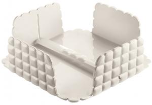 Салфетница квадратная Tiffany 21X21X7 CM молочно-белая