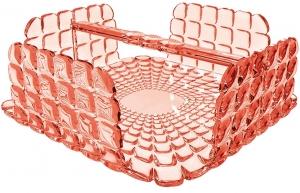 Салфетница квадратная Tiffany 20X20X8 CM коралловая