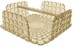 Салфетница квадратная Tiffany 20X20X8 CM песочная