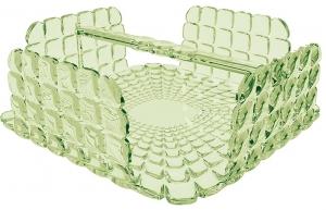Салфетница квадратная Tiffany 20X20X8 CM зелёная