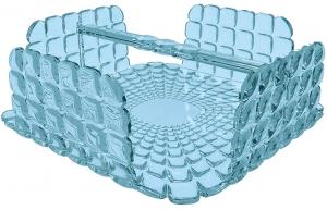 Салфетница квадратная Tiffany 20X20X8 CM голубая