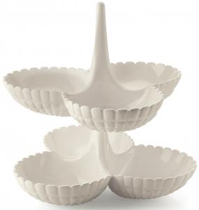 Набор из двух менажниц Tiffany 27X26X25 CM молочно-белый