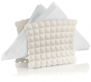 Салфетница Tiffany 15X7X11 CM молочно-белая