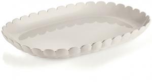 Поднос Tiffany 32X23 CM молочно-белый