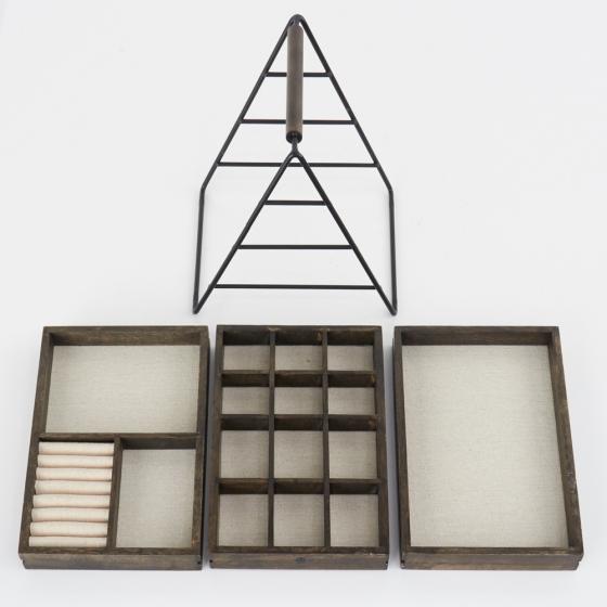 Шкатулка для украшений terrace орех 9