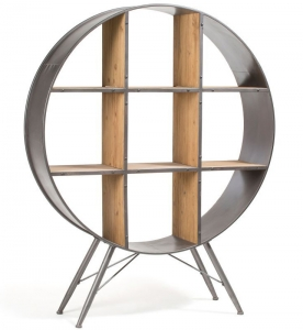 Стеллаж круглой формы Helia 120X33X152 CM