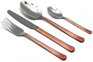 Набор столовых приборов Straw Copper 24 предмета