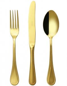 Набор столовых приборов Imperio 24 предмета Gold