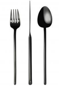 Набор столовых приборов Stick 24 предмета Black