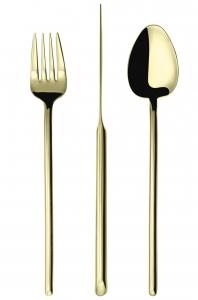 Набор столовых приборов Stick 24 предмета Gold