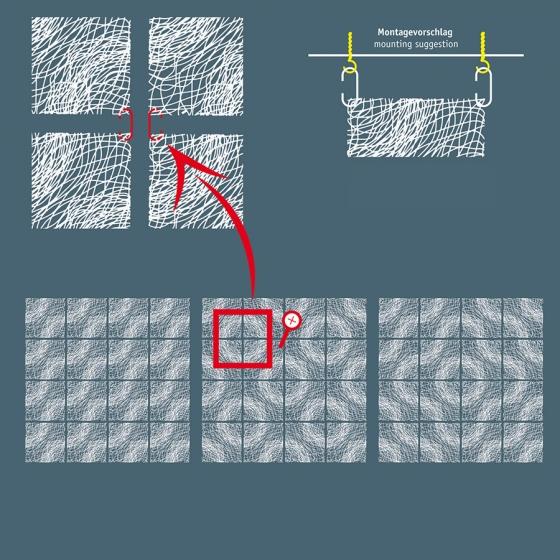 Элементы для зонирования Silk 27X27 / 27X27 / 27X27 / 27X27 CM синего цвета 4