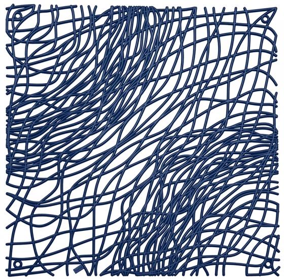 Элементы для зонирования Silk 27X27 / 27X27 / 27X27 / 27X27 CM синего цвета 1