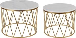 Комплект столиков Nuce 59X59X45 / 50X50X41 CM с белым мрамором