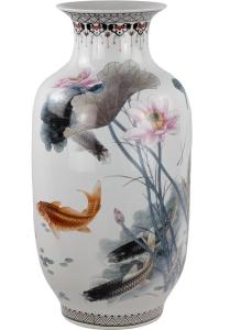 Фарфоровая ваза Koi 25X25X61 CM