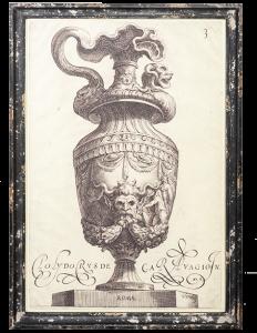 Постер в состаренной раме Antic 68X98 CM