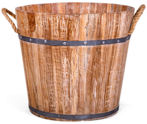 Кашпо напольное Wooden 40X40X36 CM
