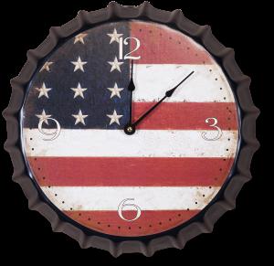 Часы настенные US Flag  Ø35 CM