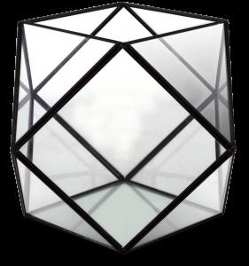 Флорариум настольный Prism 25X25X18 CM