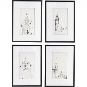 Комплект из четырёх постеров Architectural 50X70 / 50X70 / 50X70 / 50X70 CM