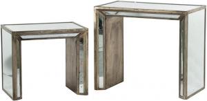 Набор из двух винтажных столиков Ecolier 69X41X61 / 62X38X46 CM
