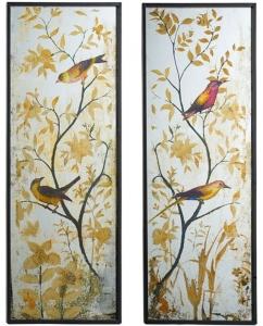 Комплект зеркальных панно Birds 43X120 / 43X120 CM
