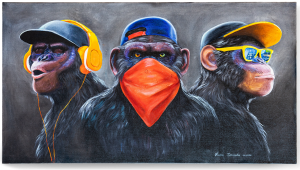 Картина on style Monkeys 87X48 CM