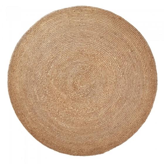 Ковер круглый из джута натурального цвета Dip Ø150 CM 1