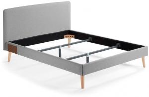 Кровать Lydia под матрас 190X150 CM серая
