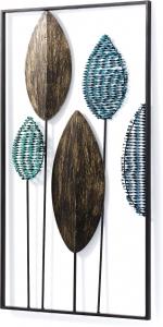 Декоративная панель из метала Leaves 104X54 CM