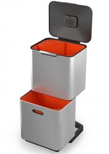 Контейнер для мусора с двумя баками totem max 60 L нержавеющая сталь