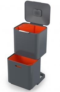 Контейнер для мусора с двумя баками Totem Max 60 L графит
