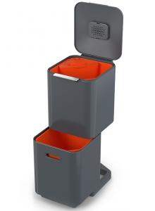 Контейнер для мусора с двумя баками Totem Compact 40 L графит