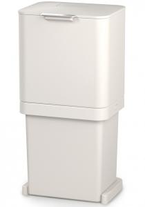 Контейнер для мусора с двумя баками Totem Pop 60 L белый