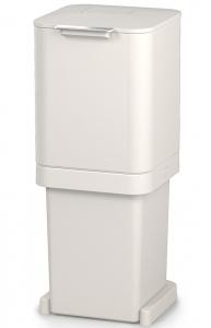 Контейнер для мусора с двумя баками Totem Pop 40 L белый