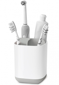 Органайзер для зубных щеток easystore белый-серый