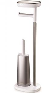 Набор держатель для туалетной бумаги с подносом easystore + ёршик для унитаза flex™