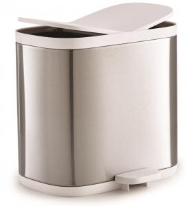 Контейнер для мусора split™ для ванной комнаты нержавеющая сталь
