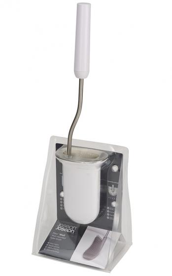 Ёршик для унитаза подвесной Flex Steel белый 6