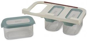 Набор из 3 подвесных контейнеров для хранения Сupboardstore 900 ml светлый опал