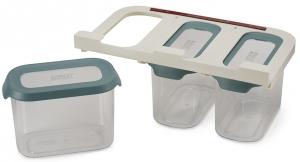 Набор из 3 подвесных контейнеров для хранения Cupboardstore 1300 ml тёмный опал